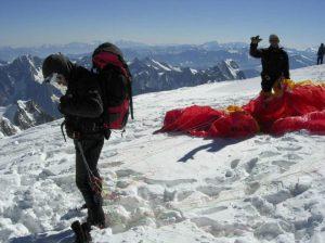 Décollage Mont Blanc