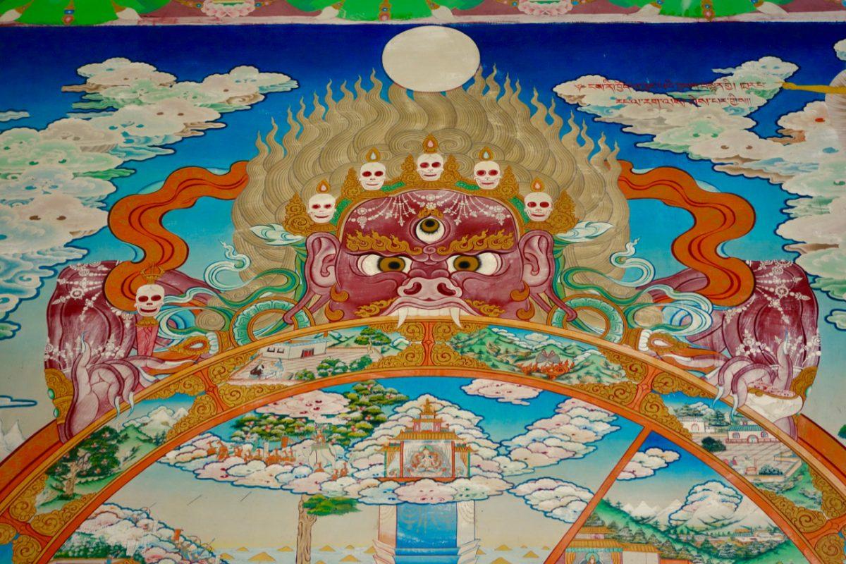 Gravure Boudhiste à BIR Inde