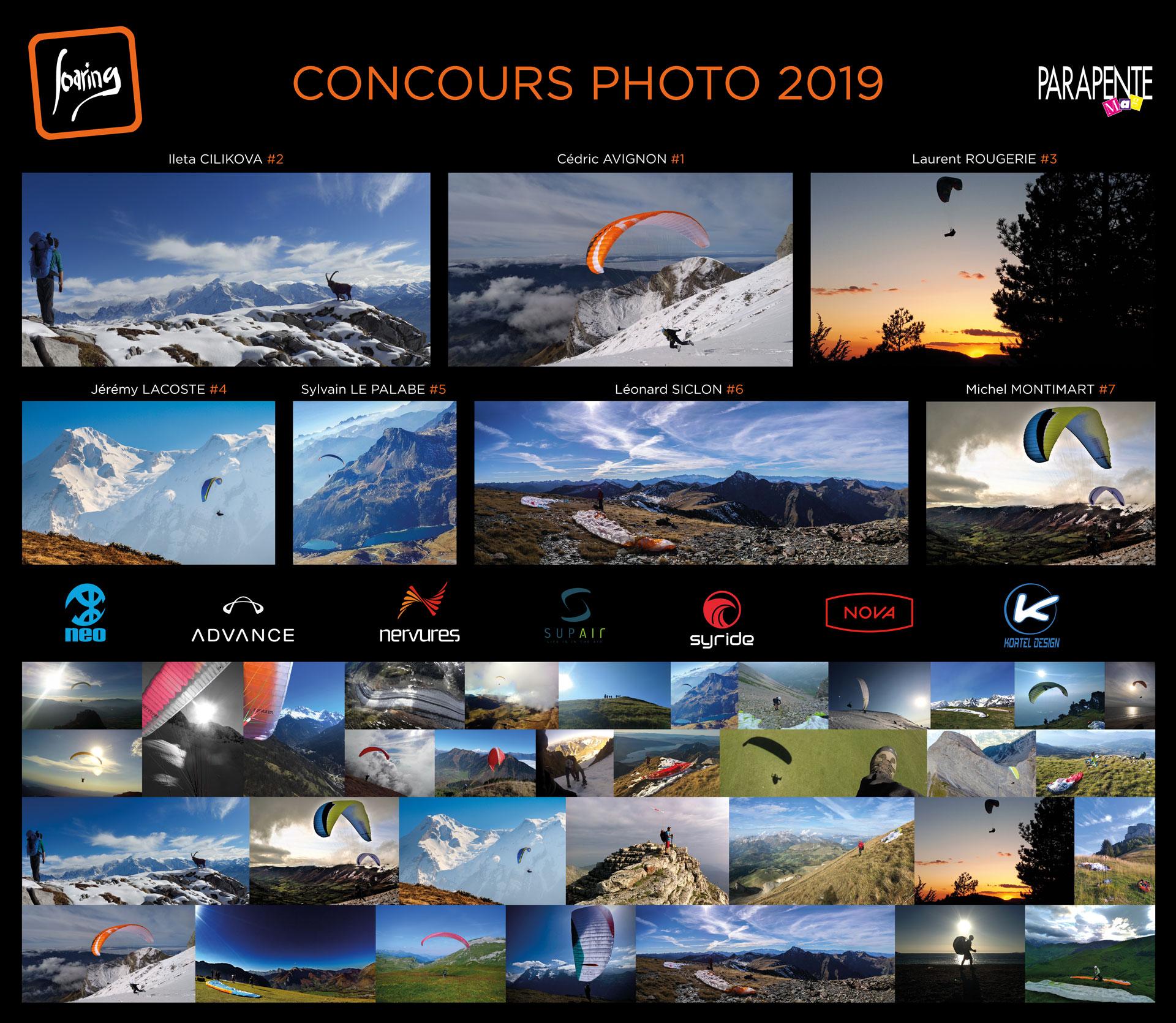 Poster du concours photo SOARING 2019 avec le palmarès